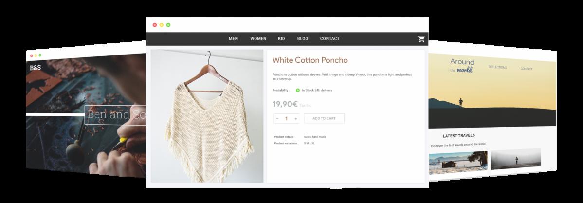 Blog e commerce site